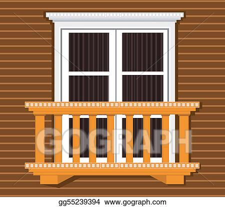Stock illustration window clipart gg55239394 gograph for Balcony clipart