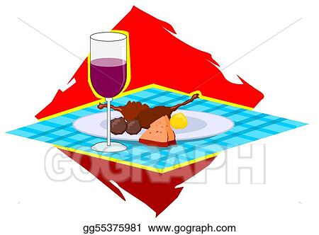 wine and dishes on a table