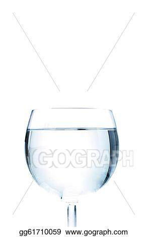Wine Glass Isolated On The White Background Gg