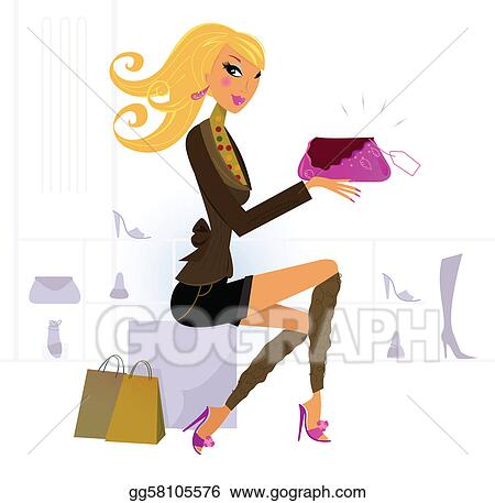 Woman buying fashion accesories in Shoe and Bags Store