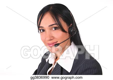 Woman headset-chair
