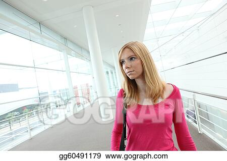 Woman in mall