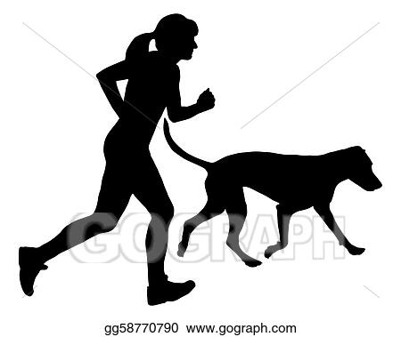Woman jogs with dog