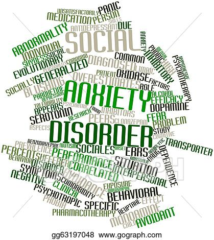 generalized anxiety disorder clip art