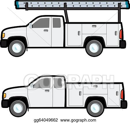 EPS Illustration - Work truck. Vector Clipart gg64049662 - GoGraph
