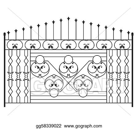 Wrought Iron Gate, Door, Fence, Win