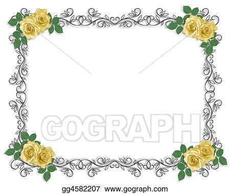 Yellow Roses Wedding Border