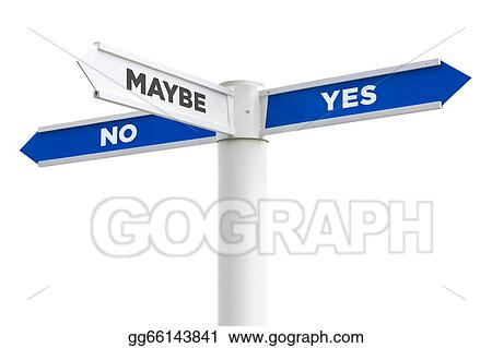 Clip Art - Yes no maybe so crossroads sign. Stock ...