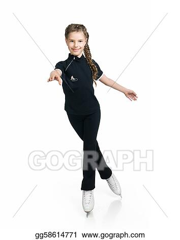 Young girl figure skating