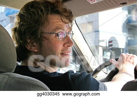 Young man driving