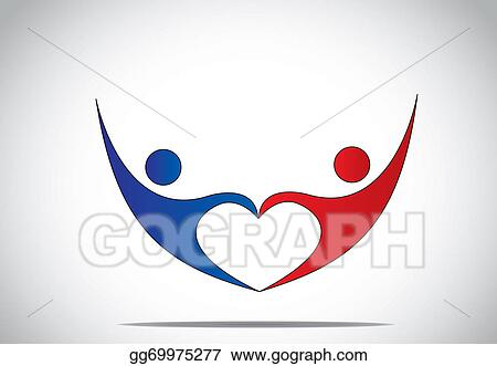 young man drawing heart with hands royalty free stock
