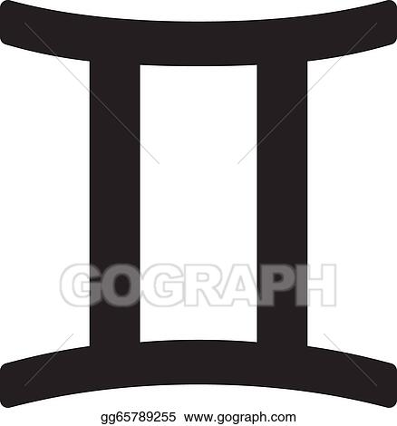 vector illustration zodiac sign gemini may 21 june 20 stock clip art gg65789255 gograph. Black Bedroom Furniture Sets. Home Design Ideas
