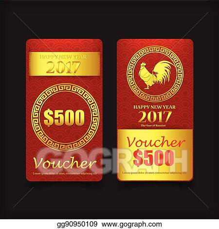 005 collection of chinese new year card template for gift voucher vector illustration eps10