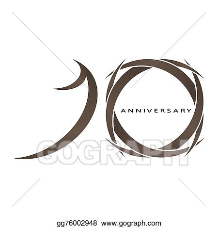 Vector Stock 10 Years Anniversary Vector Clipart Illustration