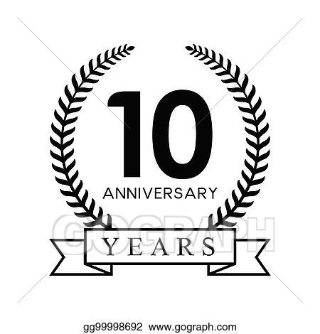 eps vector 10th anniversary years stock clipart illustration rh gograph com Happy Anniversary Banner Clip Art 10 Year Anniversary Clip Art