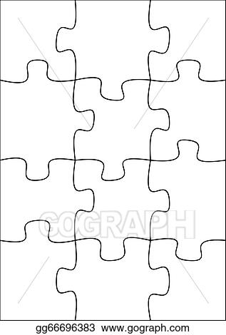 12 Piece Blank Puzzle