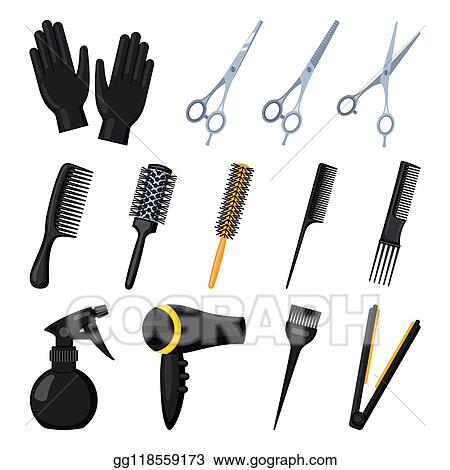 Hair Cutting Tools Drawing 28
