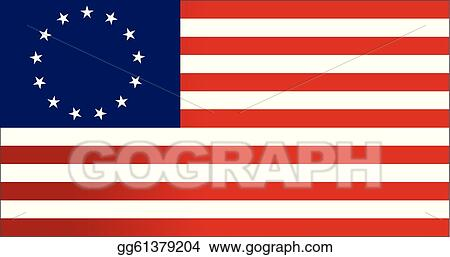 EPS Vector - 13 colonies flag us - illustration . Stock ...