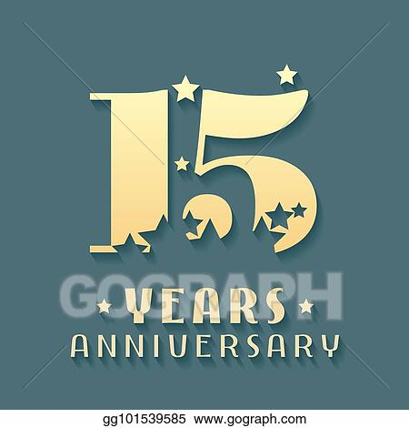 Vector Art 15 Years Anniversary Vector Icon Symbol Logo Clipart