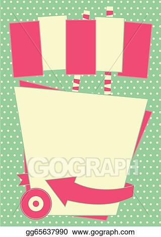 Vector Illustration - 1950s diner style background and frame  Stock