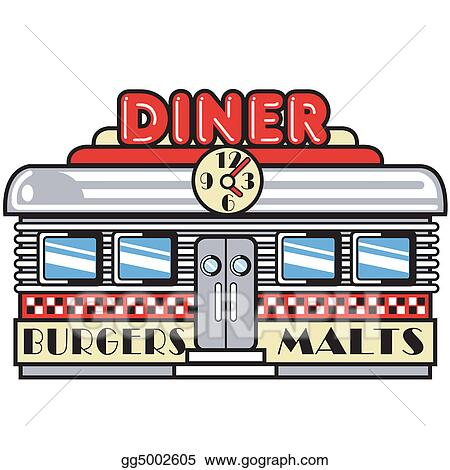 clip art vector 1950s fifties diner clip art stock eps gg5002605 rh gograph com diner clipart images diner clipart free