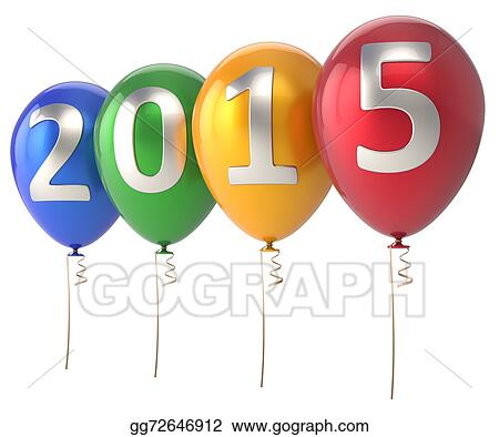 2015 new year balloons party decoration colorful