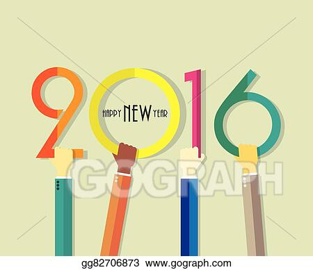 2016 happy new year background with hands for your greetings card flyers invitation posters brochure banners business