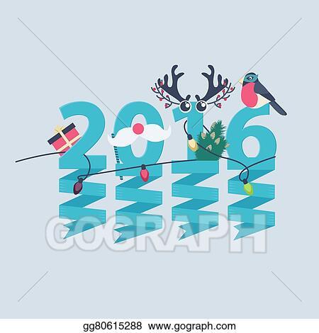 2016 new year greeting card design