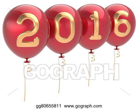 Clipart 2016 New Years Eve Party Balloons Christmas