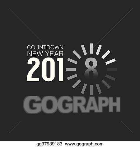 2018 countdown loading vector illustration