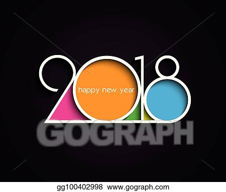 2018 happy new year or christmas background creative design for your greetings card flyers invitation posters brochure banners calendar