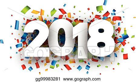 2018 new year festive background
