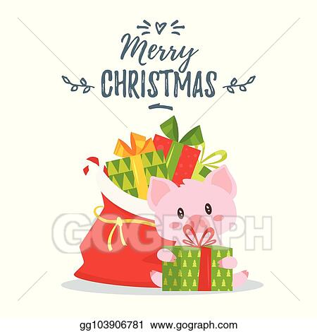 Eps Vector 2019 New Yea Christmas Greeting Card Stock Clipart