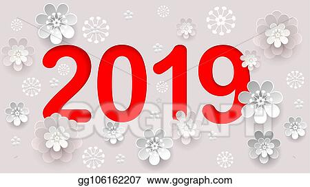 2019 new year number text in chinese calendar