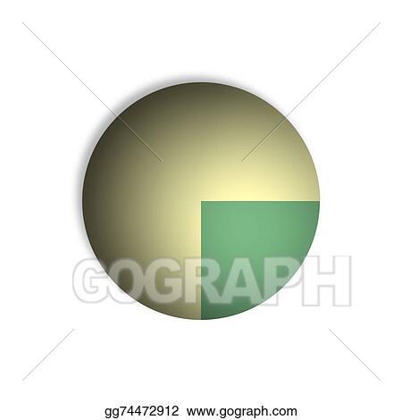 Clip Art 25 Pie Chart Percentage Graphics Stock Illustration