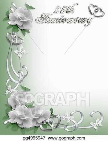 Stock illustration 25th anniversary invitation border clipart 25th anniversary invitation border stopboris Image collections