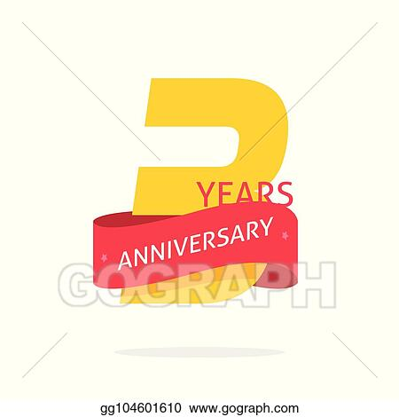 vector illustration 3 years anniversary logo template isolated on