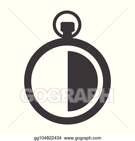 vector stock 30 minute timer vector clipart illustration