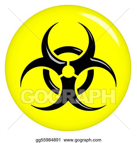Stock Illustration 3d Biohazard Sign Clipart Drawing Gg55984891