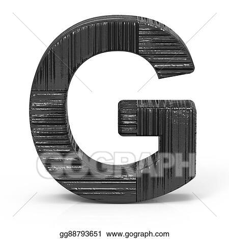Stock Illustration 3d Black Letter G Clipart Gg88793651 Gograph