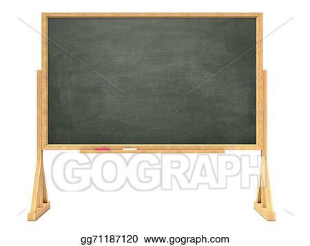 Stock Illustrations - 3d blackboard on wooden frame. Stock Clipart ...