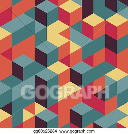 Vector Art - 3d blocks structure background    Clipart Drawing