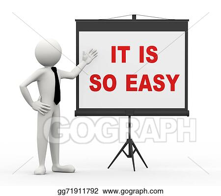 Drawing 3d Businessman It S So Easy Clipart Drawing Gg71911792