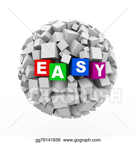 Drawing 3d Cubes Boxes Sphere Ball Easy Clipart Drawing