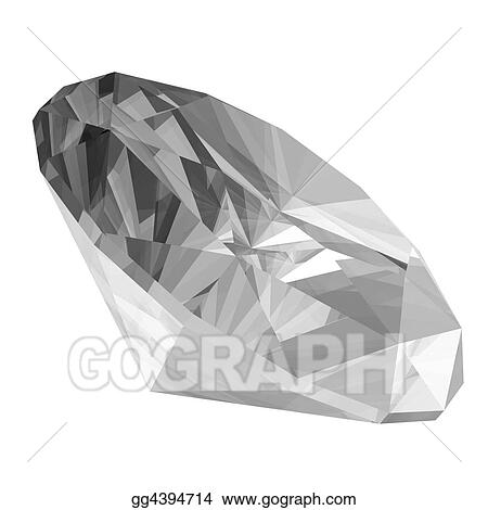 Drawing - 3d diamond  Clipart Drawing gg4394714 - GoGraph