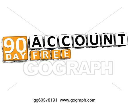 Stock Photo - 3d get 90 day account free block letters