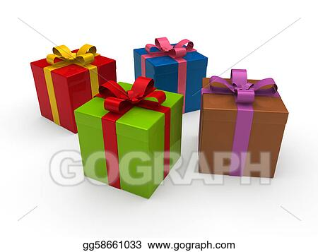 Drawing 3d gift box color clipart drawing gg58661033 gograph 3d gift box color negle Gallery
