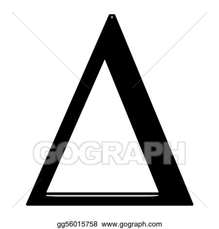 Drawings 3d Greek Letter Delta Stock Illustration Gg56015758