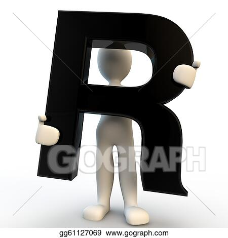 Clipart 3d human character holding black letter r small people 3d human character holding black letter r small people altavistaventures Image collections