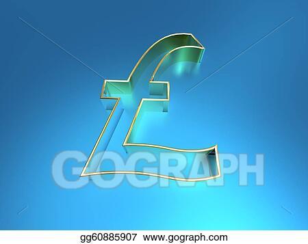 Stock Illustration 3d Illustration Of The British Pound Symbol On